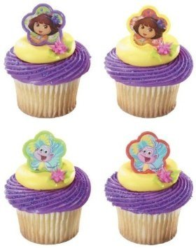 Dora the Explorer and Boots Springtime Friends Cupcake Rings - 24 ct by DecoPac