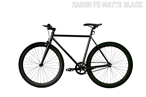 carci Fixed Gear Bike F2 Steel Black Bicycle Men Women Fixie