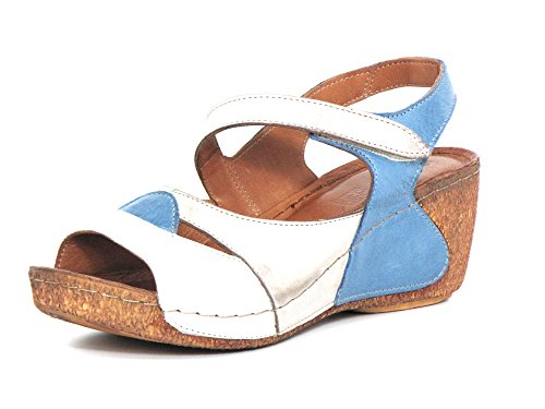 Gemini Women Sandals White, (Weiß-Kombi) 032256-02/112 Weiß-kombi