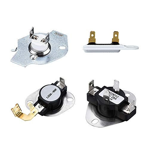 3977393 &3392519-GP2 Kit Including 3392519 Dryer Thermal Fuse & 3387134 Dryer Cycling Thermostat & 3977767 Dryer Thermostat and 3977393 Thermal Fuse Compatible with Whirlpool Kenmore Dryer (Kenmore Dryer Part 3387134)