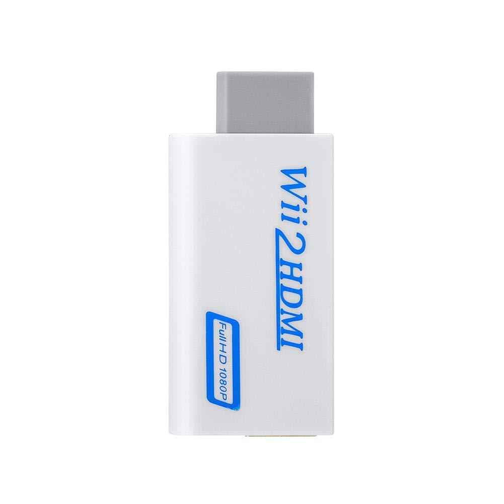 Wii to HDMI 720//1080P Full HD Konverter Converter Adapter mit 3,5mm Audioausgang f/ür Wii TV Monitor Beamer Fernseher KOBWA Wii zu HDMI Adapter