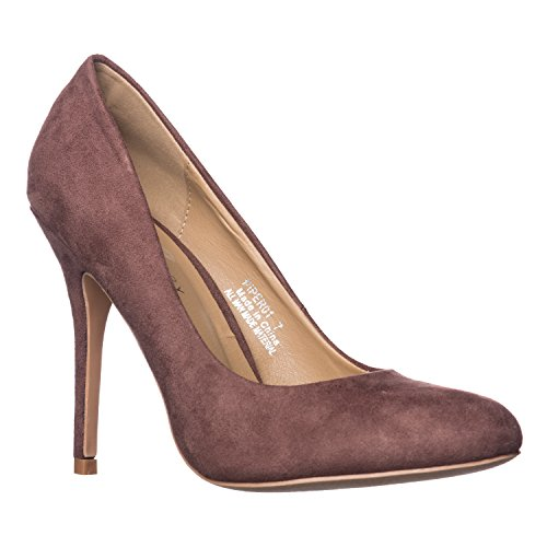 Riverberry Women's Piper Round Toe, High Heel Pumps, Brown Suede, 7.5 ()