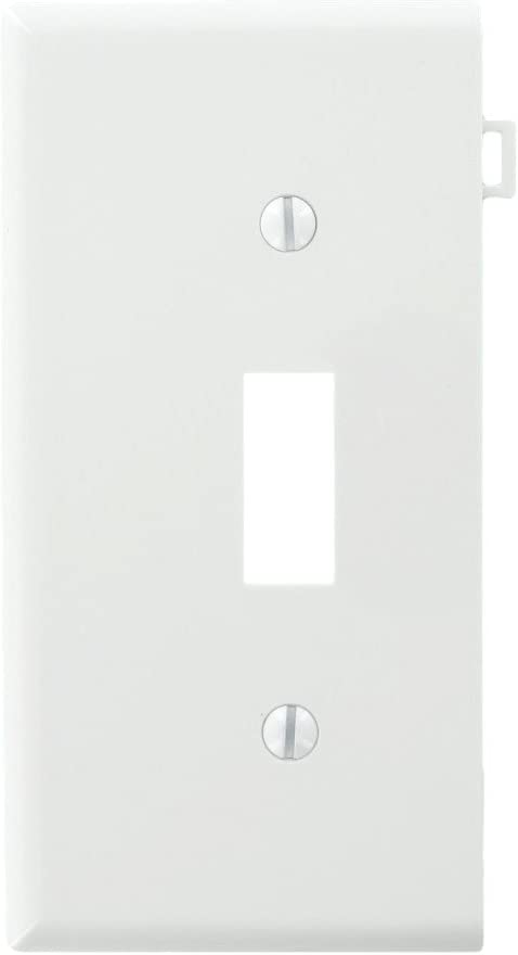 Leviton PSE1-W 905-0Pse1-00W Sectional Toggle Wall Plate