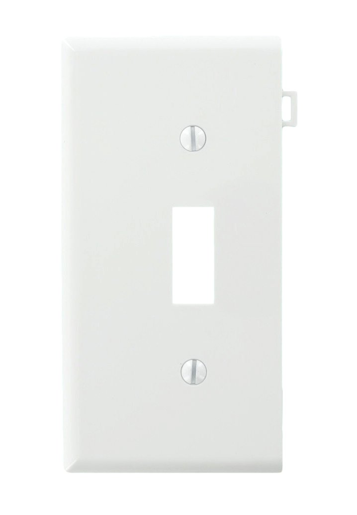 Leviton PSE1-W 905-0Pse1-00W Sectional Toggle Wall Plate, 1 Gang White