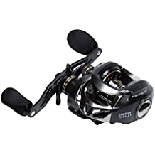 Fishdrops All Carbon Body Dual Braking System High Speed (7.2:1) Ultra Smooth 17+1 Baitcasting Fishing Reel-- Carbon Material Design Gives Super Light Weight,Strong and Fast