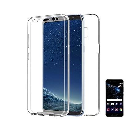 PLANETMOVIL [[ Huawei P20 Lite ]] Carcasa 360 Funda DE Silicona Delantera + Trasera RIGIDA Doble 100% Transparente Doble Cara Proteccion Integral por ...