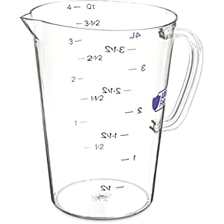 Carlisle 43145AF07 Commercial Plastic Measuring Cup, 1 Gallon, Purple (Pack of 6)