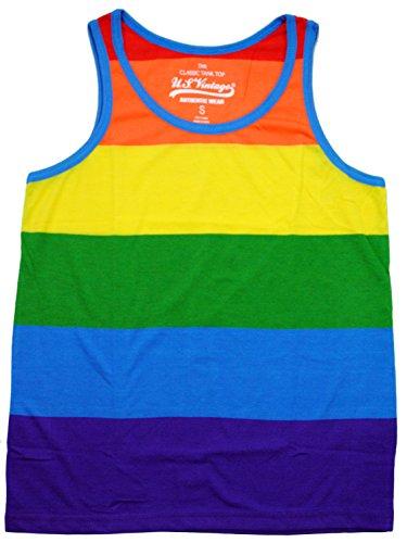Exist Patriotic American Rainbow Colors Flag Tank Top Shirt MT414 2XL