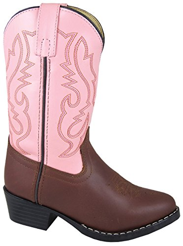 Smoky Mountain Boots Kid's Denver Leather Western Brown/Pink Boots 11.5 M US Little Kid