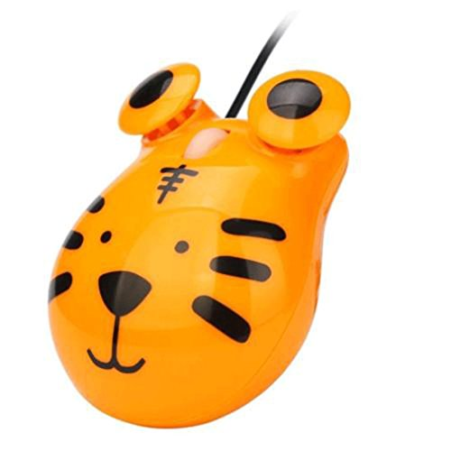MONOMONO-1200 DPI USB Wired Optical Gaming Game Mice Mouse For PC Laptop Computer Cute (tiger)