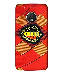 ColorKing Football Belgium 06 Red shell case cover for Motorola Moto G5 Plus