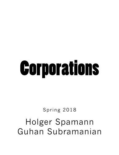 Corporations: Casebook