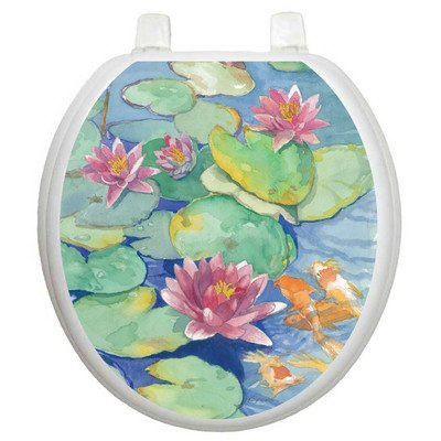 Toilet Tattoos Lily Pads Design Toilet Seat Applique