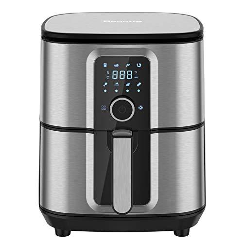 Air Fryer, Bagotte Air Fryer Stainless Steel Electric Hot Air Fryers Oven Oilless Cooker, 360° Circulation Hot Air…