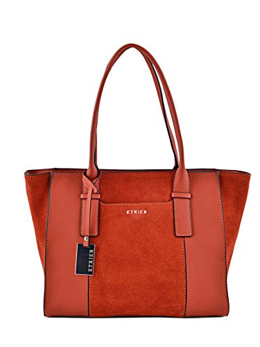 Sac Shopping Caleche Cuir femme rouge