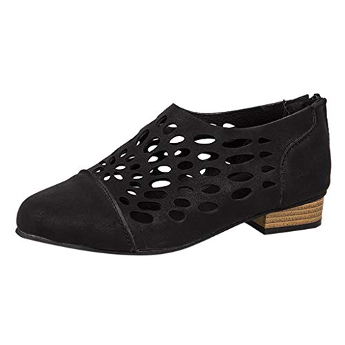 Tantisy ♣↭♣ Women's Splendid Midi Perf Slip-on Ladies Sneakers/Top-Sider Seaside Aerial Sneaker/Casual Oxfords Black