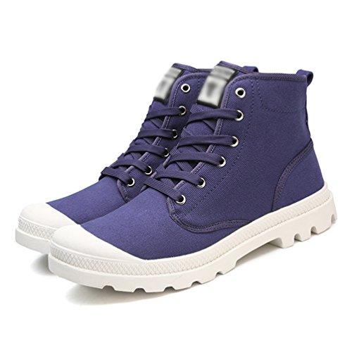 Tela Traspirante Scarpe Stringata Guida Scarpe Unisex di Alte Blu Sneakers Anguang Sportivo da q0O5x