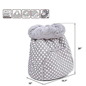 PAWZ Road Cat Bed Puppy Small Dog Bumper Bed Ultra Soft Magic Sleeping Bag