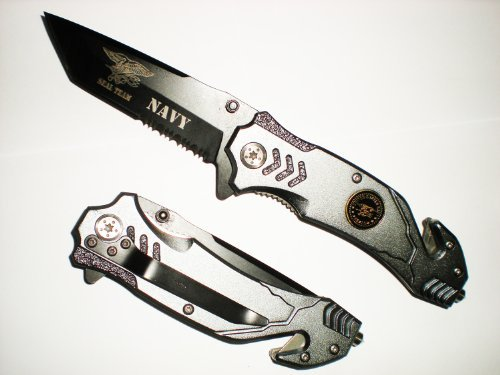 US NAVY SEAL TEAM ASSISTED Opening TANTO BLADE RESCUE POCKET