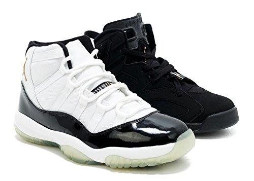 Air Jordan Le Dmp Defining Moments Pack - 313124-991 - Size 9.5 Black, Metallic Gold (Dmp Pack)