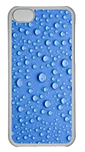 Drops of water PC Case Cover for iPhone 5C Transparent