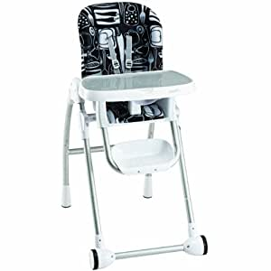 Amazon Com Evenflo Modern 200 Kitchen High Chair Print Black High Chair Boys Baby