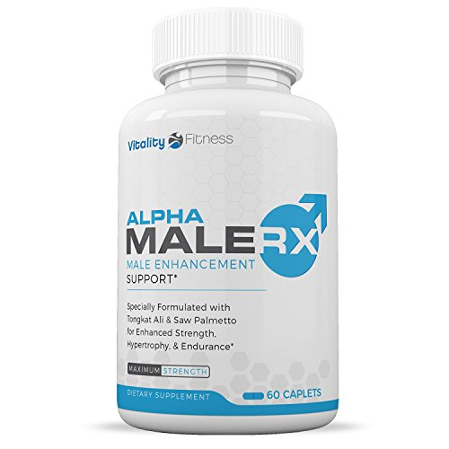 Alpha Male RX Testosterone Booster (60 Caplets) – Natural Stamina, Endurance and Strength Booster – Fortifies Metabolism – Promotes Healthy Weight Loss and Fat Burning