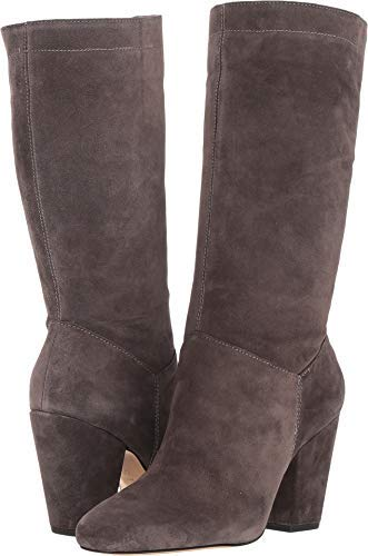 1.STATE Womens Maribell Leather Almond Toe, Charcoal Portogallo, Size 8.5