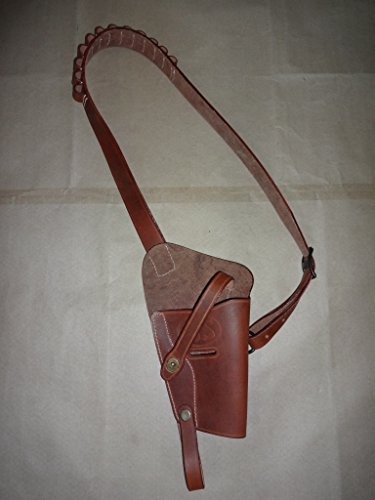 US M3 Victory Revolver Shoulder Holster Brown Leather with Shell loops -...
