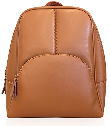Womens Vintage Style Top Layer Cow Leather Backpack Shoulder Bag Brown