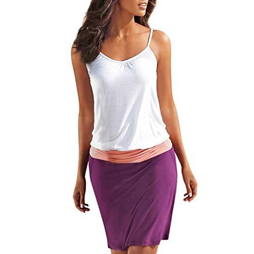 Bohemia Printed Dress for Women,2019 New Casual Sleeveless Maxi Party Beach Dress Sundress O Neck Summer Mini Dress Purple