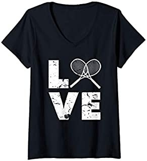 [Featured] Womens Love Tennis Gear for Tennis Players, Coaches, Pros V-Neck in ALL styles | Size S - 5XL