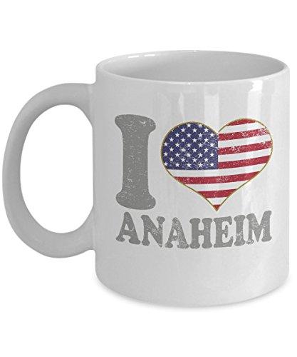 Anaheim Ceramic Mug Set (Anaheim California Coffee Mug - 11oz White Ceramic Tea Cup. Retro Country Flag Pride Novelty Holiday Christmas Gift. Set of 1.)
