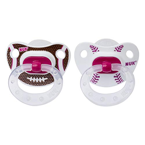 NUK Sports 2 Piece Orthodontic Pacifier, Girl, 6-18 Months