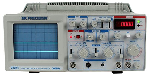 (B&K Precision 2121C Analog Oscilloscope with Frequency Counter, Dual Trace, 30 MHz Bandwidth)