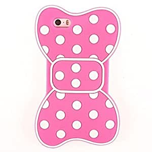 LZXBowknot Design Silicone Soft Case for iPhone 5/5S(Assorted Color) , Black