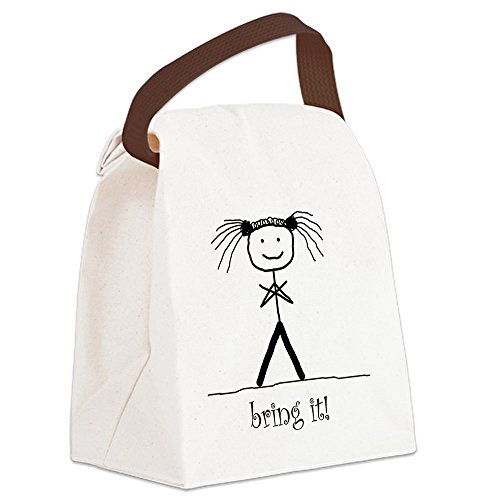 (CafePress - Bring_It2 Canvas Lunch Bag - Canvas Lunch Bag with Strap Handle)