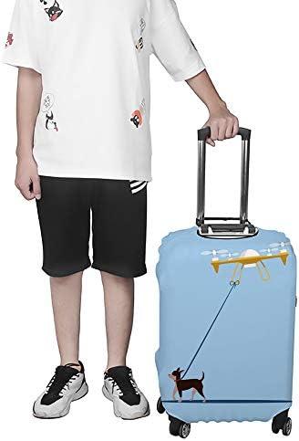 スーツケースカバー 無人機で犬の散歩 伸縮素材 キャリーバッグ お荷物カバ 保護 傷や汚れから守る ジッパー 水洗える 旅行 出張 S/M/L/XLサイズ