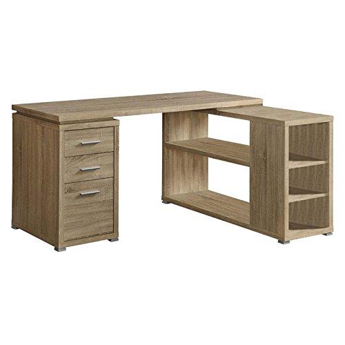 Monarch Specialties Hollow-Core Left or Right Facing Corner Desk, Natural