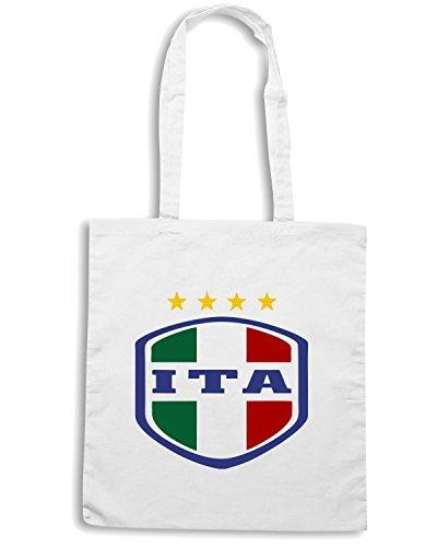 T-Shirtshock - Bolsa para la compra WC0087 ITALIA ITALY Blanco