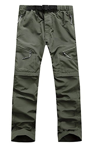 Aieoe Mens Unisex Outdoor Quick Dry Convertible Hiking Sport Cargo Pants Shorts