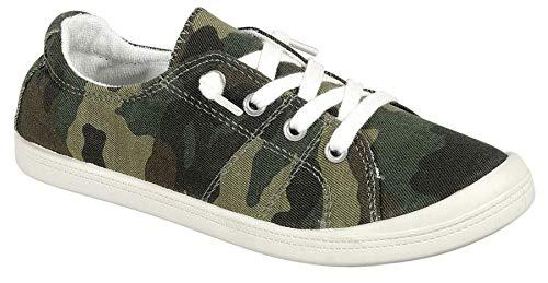 Forever Link Women's Classic Slip-On Comfort Fashion Sneaker, Camoflauge, 7.5