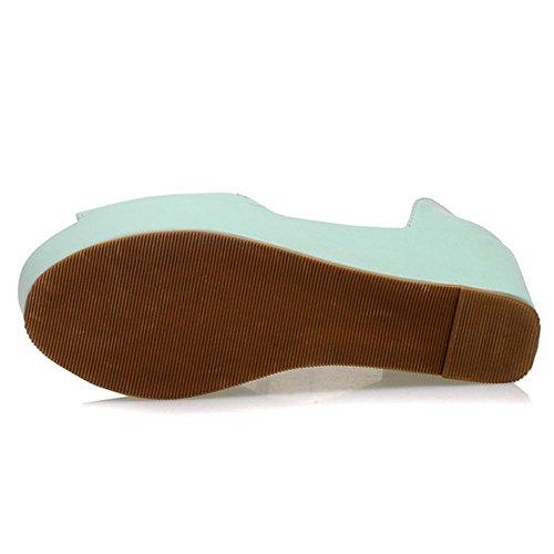 Sandales Forme TAOFFEN Plate Femmes Compensé Vert WtEqqwnP8x