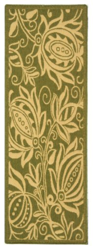 Safavieh Courtyard Collection CY2961-1E06 Olive and Natural Indoor/ Outdoor Runner (2'3