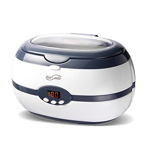 Ultrasonic Cleaner, Housmile Professional Ultrasonic Jewelry Cleaner with Digital Timer, Portable Cleaner Machine for Watch, Glasses, Jewelry and Dentures ()