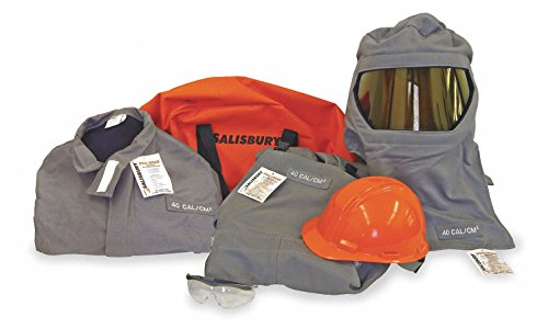 Salisbury by Honeywell SK40- Arc Flash Protective Flash Suit Kits, 40 cal/cm2, extra (40 Cal Coat)