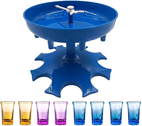 Shot Glass Dispenser - Dispenser For Filling Liquids, Shots Dispenser, Liquor Dispenser, Party Drinking Games, Adults Games (Acrylic Shot Glasses Included