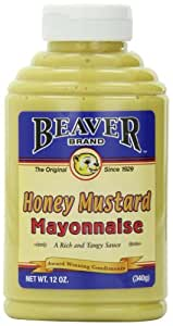 Beaver Brand Honey N Mustard Mayonnaise Sauce, 12-Ounce Squeezable Bottles (Pack of 6)