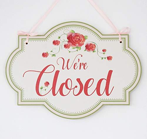 Open/Closed - o abierto/cerrado, cartel colgante de madera ...