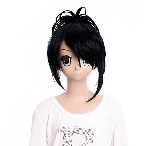 Gooaction Gintama ,nine Samurai,Cosplay Long Black Wig Ponytails Wigs (Sexy Pokemon Costumes)